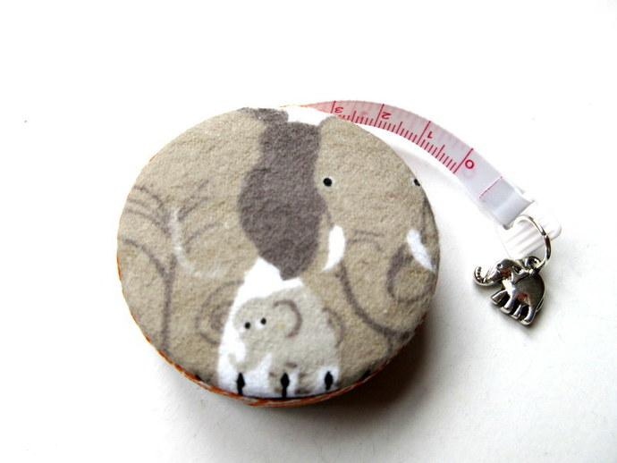 Tape Measure Tan Elephants Retractable Measuring Tape
