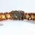 Amber Rhinestone encrusted Fall bracelet bronze orange statement jewelry