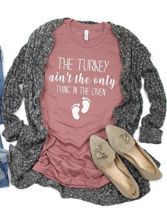 The Turkey Ain't The Only Thing In The Oven design tshirt, The Turkey Ain't The