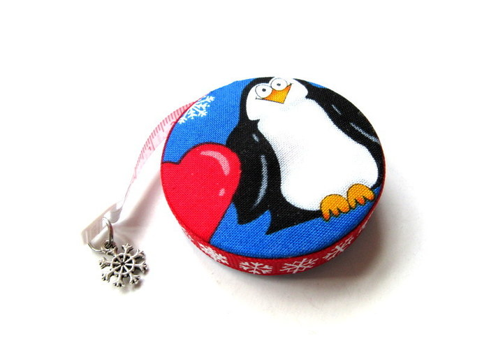 Retractable Tape Measure Hearts and Penguins Small Measuring Tape