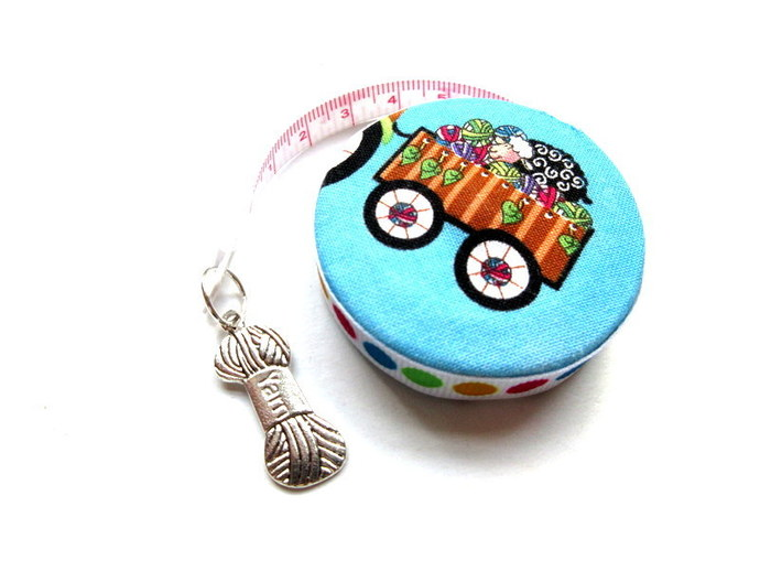Tape Measure Knit Chicks Retractable Small Pocket Measuring Tape