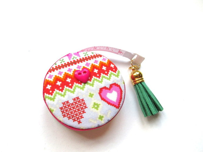 Tape Measure Fair Isle Knitting Stitches Retractable Measuring Tape