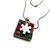 Christmas Square Button Pendant Necklace Free Shipping