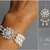 Bridal Jewelry Set / Wedding Earrings Bracelet Set / Bridal Pearl Wedding
