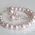Wedding Jewelry Set, Rosaline Pearl Bridal Jewelry Set, Blush Bracelet and