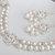 Bridal Jewelry, White Swarovski Pearl Bridal Earrings, Long Bridal Earrings,