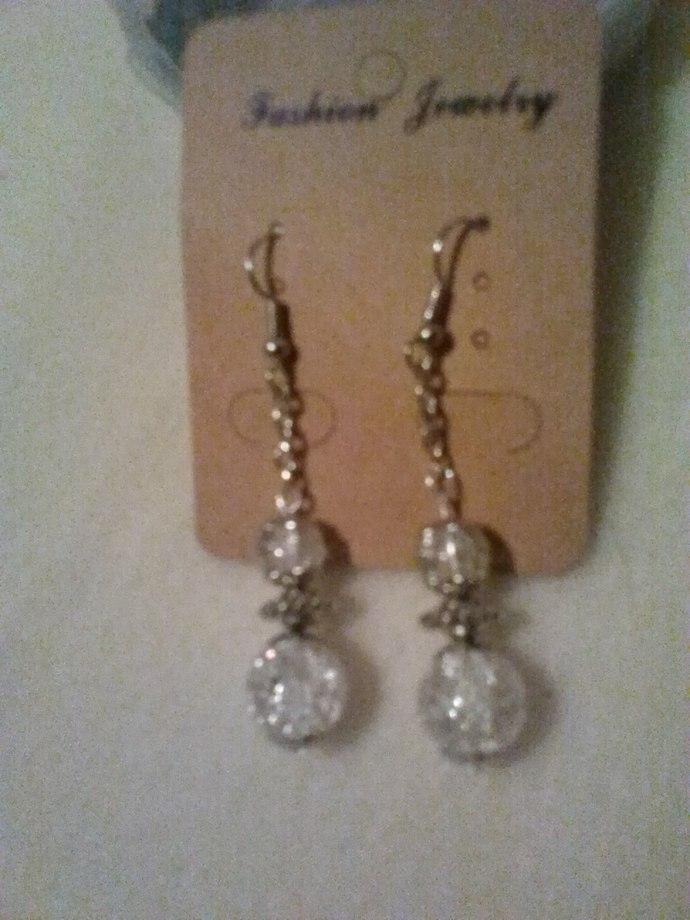 Snowman Earrings, Handmade Earrings, Silver Ear Wires, Silver Chain