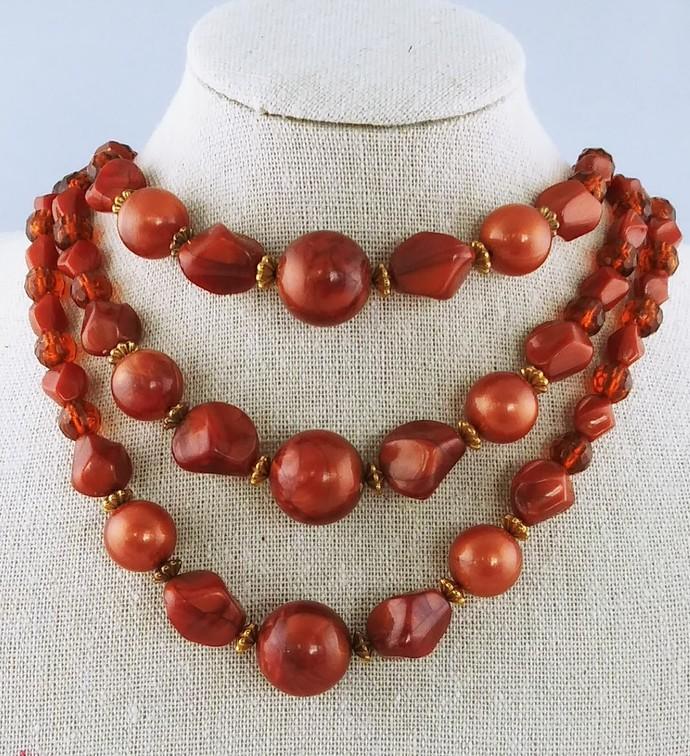 "13"" Multi Strand Beaded Necklace"