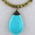 """16"""" Choker Chain Necklace with Turquoise Pendant"""