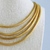 """15"""" Multi Strand Gold Chain Vintage Necklace"""