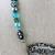 "17"" Handmade Choker Necklace with Wonderland Pendant"