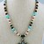 "16"" Handmade Beaded Necklace with Cross Pendant"