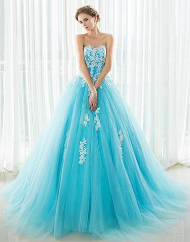 Charming Prom Dress,Tulle Prom Gown, A-Line Prom Dress, Sweetheart Prom Gown