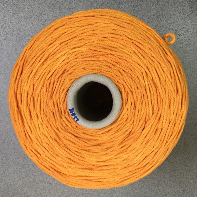 5mm orange twisted macrame cord vintage