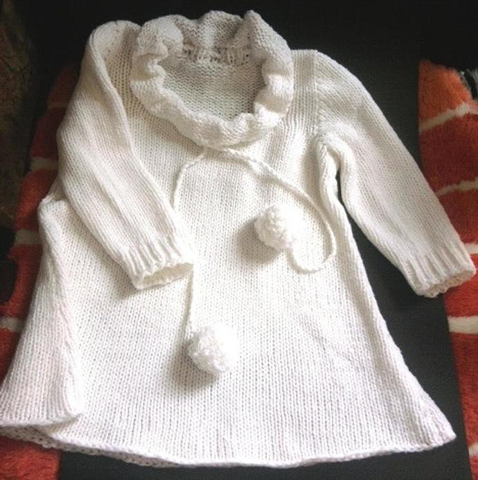 Knitting tunic for your girl. Free shipping,