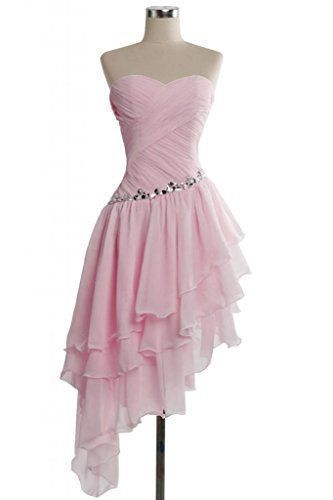 Mismatched Prom Dress,Pink Prom Dress,Chiffon Prom Dress,Cheap Prom Dress,Party