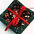 Quilted Drink Coasters Green Red Christmas