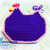 Shabby Chic Purple CHICKEN- potholder, trivet, cozy, hot pad