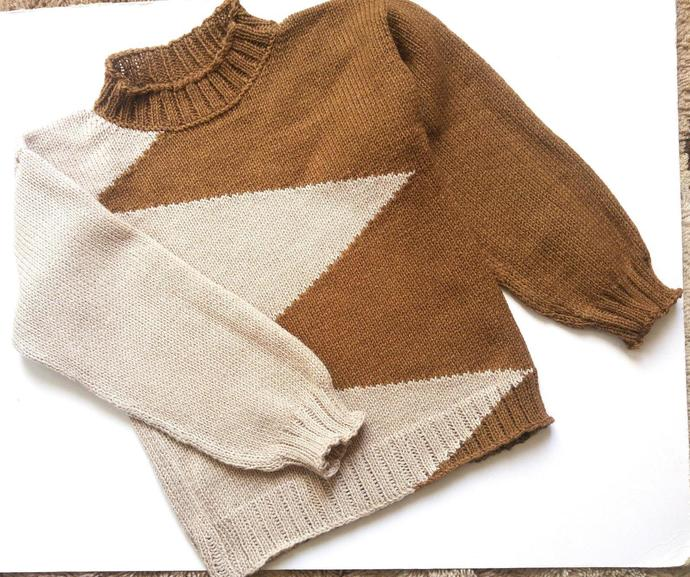 Knitted sweater   for children .Free shipping