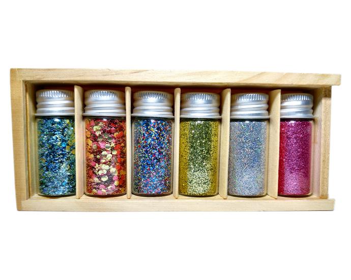 Eco Shine Box Set - 6 Biodegradable Glitters