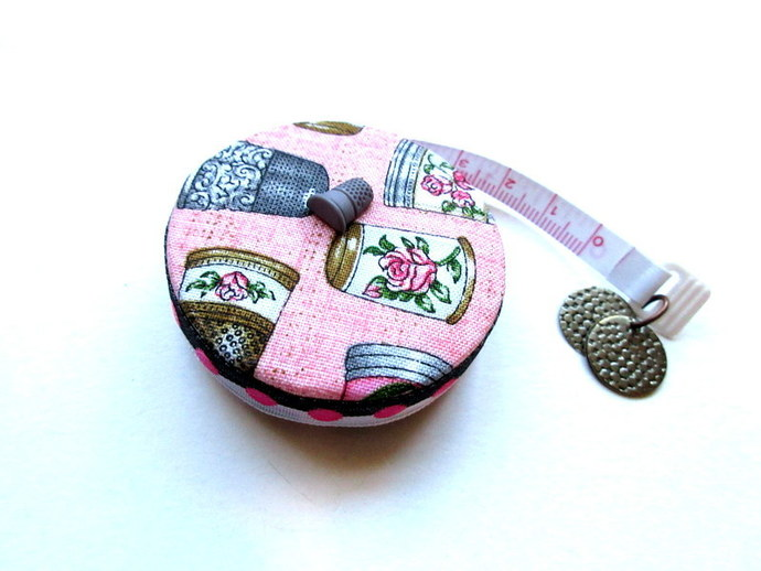 Measuring Tape Just Thimbles Retractable Small Pocket Tape Measure