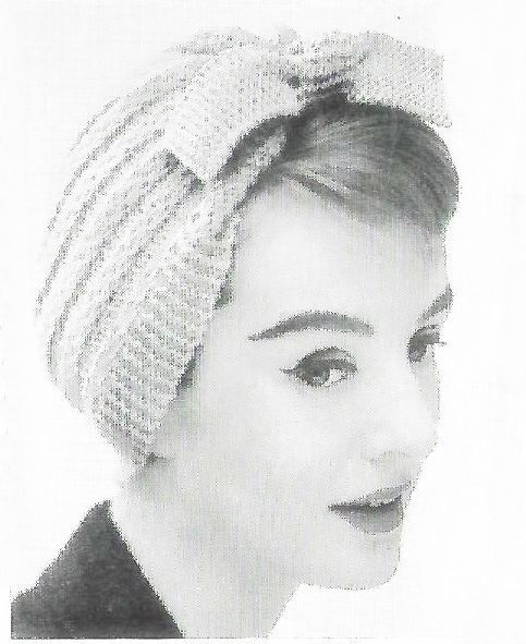 Ladies Womens 50s vintage 4 ply eyelet lace lacy skull cap hat pdf knitting pattern 22 Head Size Instant PDF Download 1209
