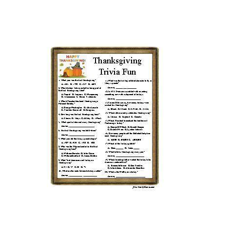 Thanksgiving Trivia Fun