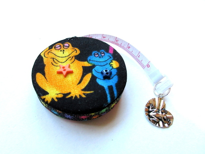Tape Measure Bright Neon Frogs Retractable Measuring Tape