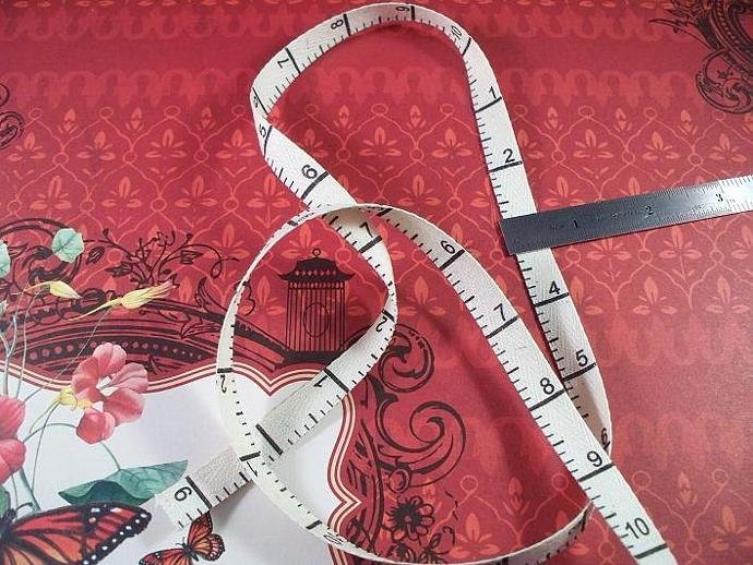 "2 Yards Twill Tape with Measuring Tape Design , 3/8"" Ivory #TM-01"