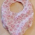 Baby bib scarf, Gift for baby girl, pink floral fabric,  Gift for new mom,