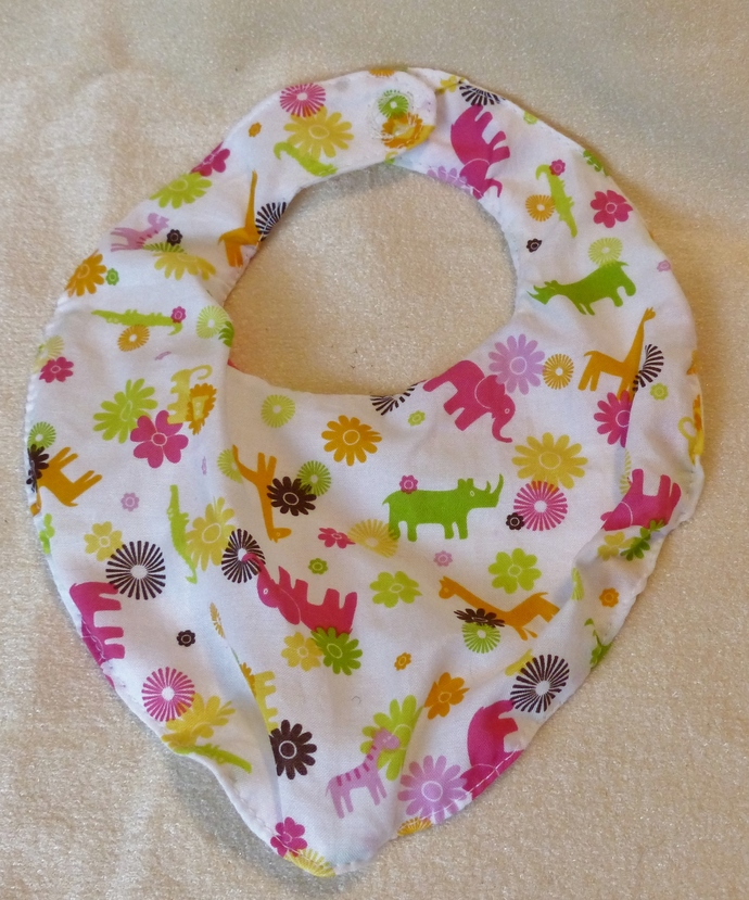 Baby bib scarf, Gift for baby girl or boy, animal design fabric,  Gift for new