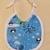 Baby bib, Gift for baby girl or boy, penguin fabric, Gift for new mom, Shower