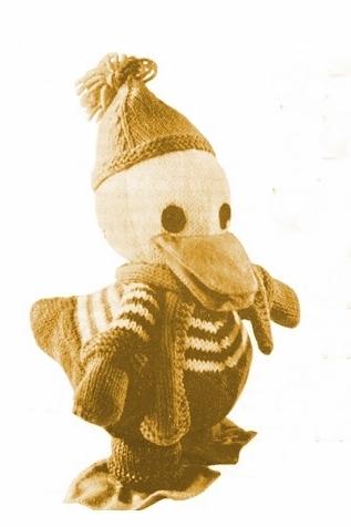 PDF Digital Download Vintage Knitting Pattern 10'' Drake Duck Stuffecf Soft Body