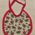 Baby bib, Gift for baby girl or boy, holly berries and bows fabric, Gift for new