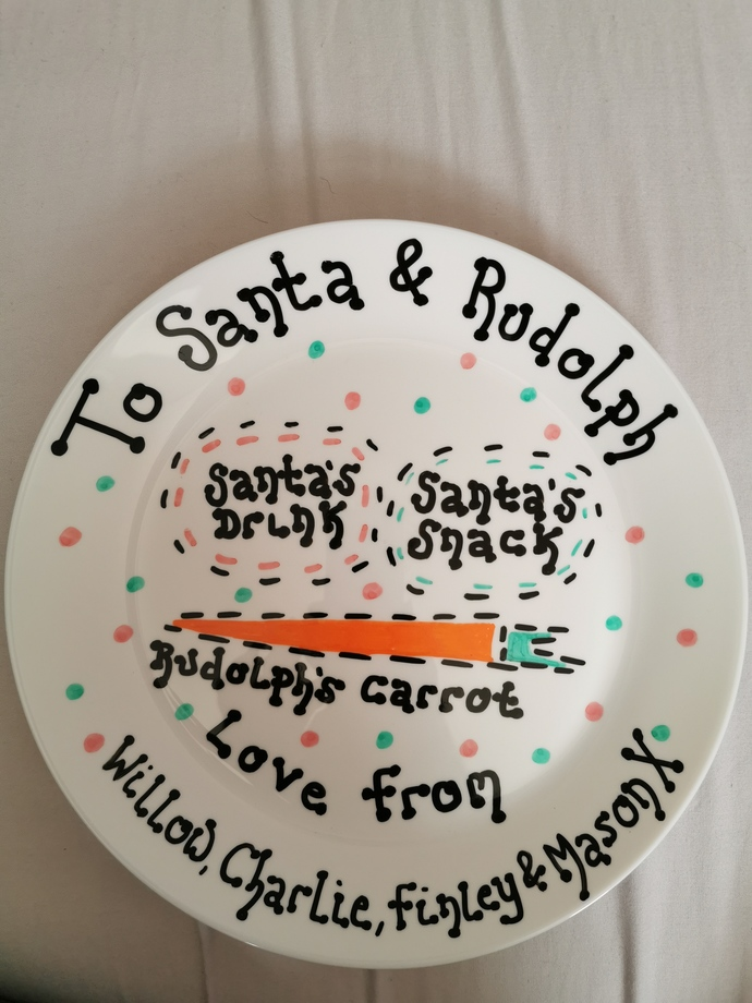 Personalised Christmas eve plates