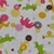 Baby bib, Gift for baby girl or boy, animals and flowers fabric, Gift for new