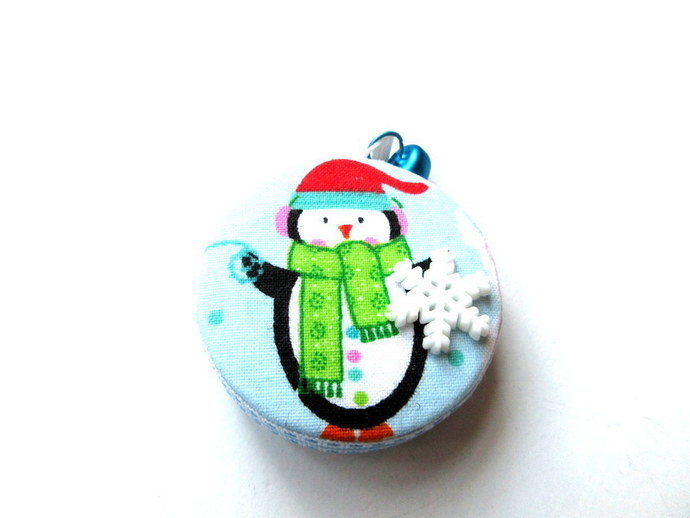 Retractable Tape Measure Penguins in Winter Small Measuring Tape