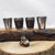 Mermaid Flask Set and Mini Tin Black and Bronze Nautical Style Artisan Designed