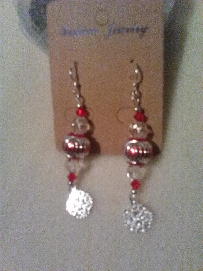 Caged Bead Earrings, Handmade Jewelry