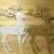 Deer with Cut Through Swirl Pattern Cutting Die