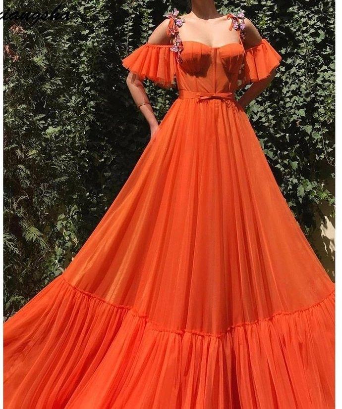Charming Prom Dress,Chiffon Prom Gown, Pleat Prom Dress, Spaghetti Straps Prom