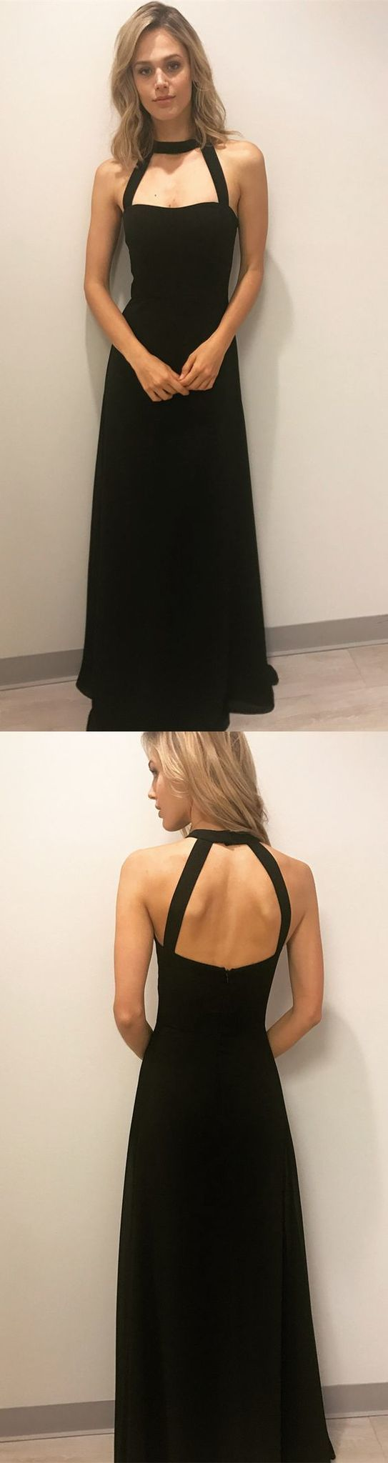 Long black prom dresses, party dresses, formal evening dressse,FLY589