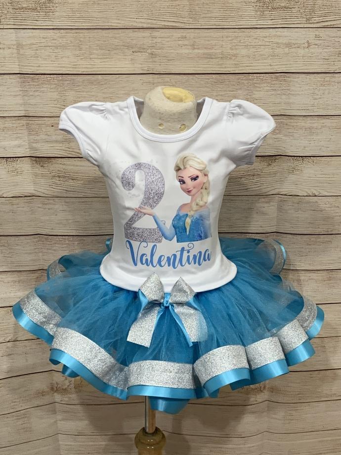 Frozen birthday outfit, frozen tutu, Elsa birthday tutu, frozen birthday outfit