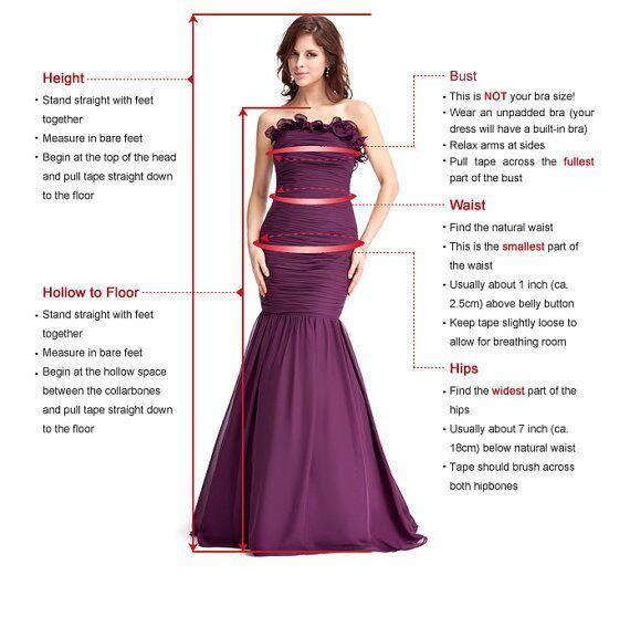 Deep V neck A Line Bridesmaid Dress with High Slit