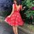 Red V neck Lace Short Prom Dress Cocktail Dress