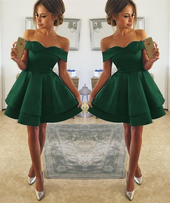 Short Green Prom Dress, Sexy Prom Dress, Short Homecoming Dresses