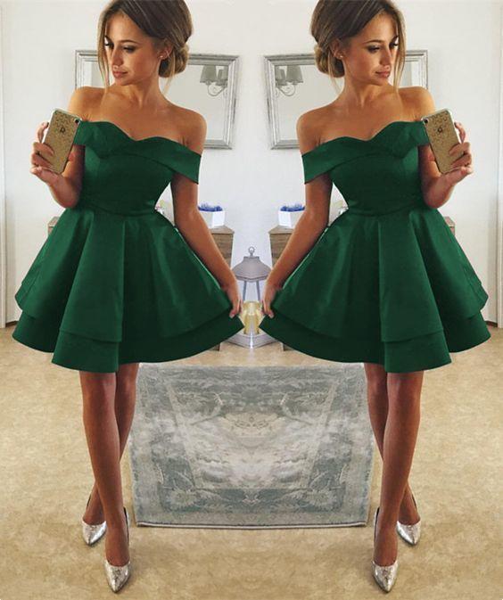 Short Green Prom Dress, 8th Grade Prom Dress, Short Homecoming Dresses