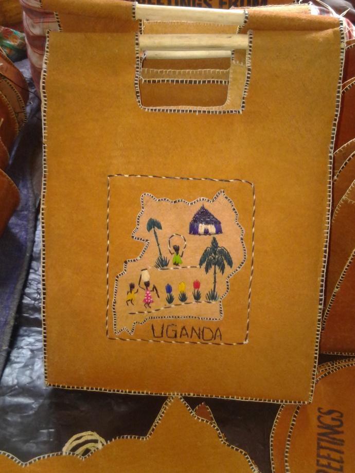 Ugandan Bark Cloth Bag