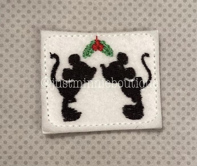 Kissing Mouse Mistletoe 4 pc UNCUT Feltie