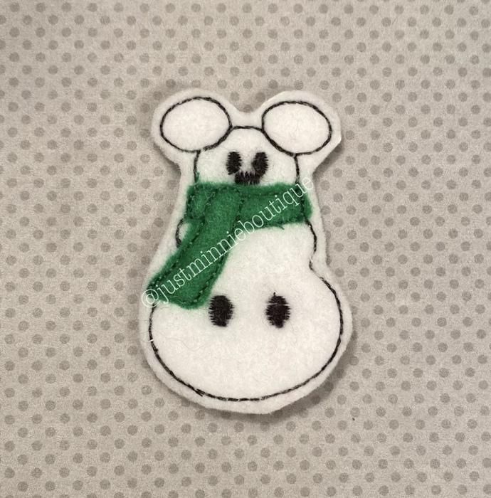 Mickey Snowman 4 pc UNCUT Feltie